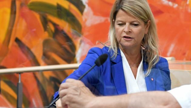 Verteidigungsministerin Klaudia Tanner (Bild: APA/ROLAND SCHLAGER)