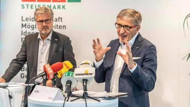 Karl-Heinz Dernoscheg und Josef Herk (Bild: Foto Fischer)