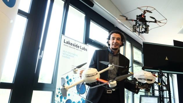 Christian Raffelsberger will die Drohnen intelligent machen. (Bild: Leitner Tom)