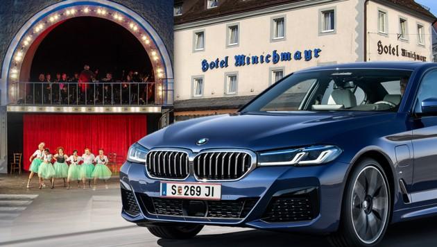 (Bild: Musikfestival Steyr/Hotel Minichmayr/Symbolbild © BMW Group, krone.at-Grafik)
