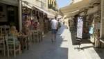 Eine fast ausgestorbene Fußgängerzone in Griechenland (Bild: kameraone)
