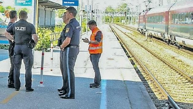Am Bahnhof wurde Bombenalarm ausgelöst. (Bild: Markus Tschepp)