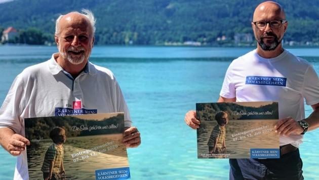 Polesnik und Godescha hoffen auf Tausende Unterschriften (Bild: Wassermann Kerstin)