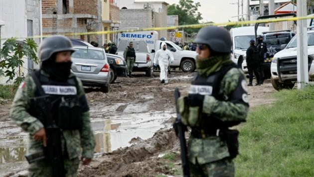 """""""El Chapo"""" sitzt in Haft, aber die Gewalttaten der Kartelle sind weiter an der Tagesordnung - wie hier bei einem Angriff auf eine Entzugsklinik."""
