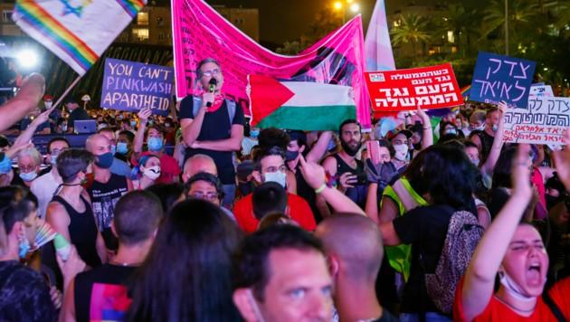 """Am vergangenen Freitag versammelten sich Tausende Menschen in der israelischen Stadt Tel Aviv, um gemeinsam den """"Pride Day"""" zu feiern. Am Mittwochabend meldeten die Gesundheitsbehörden 868 neue Corona-Infektionen."""
