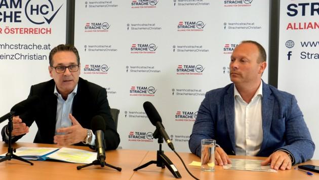 Heinz-Christian Strache und Neo-Parteimanager Christian Höbart