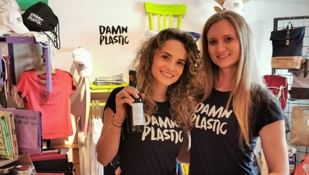 Victoria Neuhofer (l.) und Stephanie Sinko gründeten damn plastic. (Bild: Barbara Kneidinger)