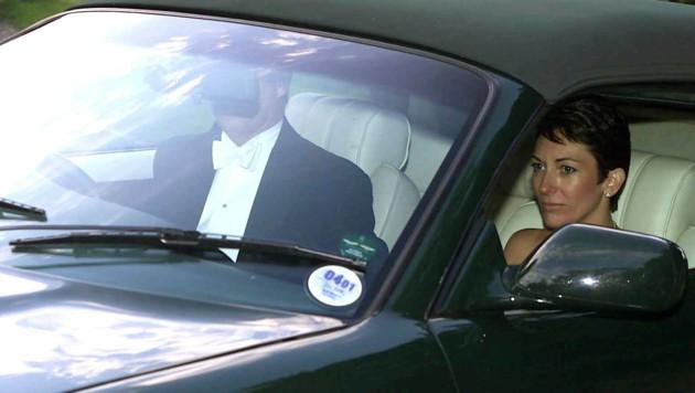 Ghislaine Maxwell im Jahr 2000 im Auto mit Prinz Andrew