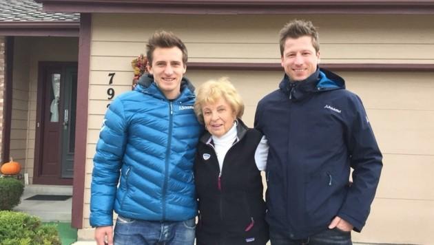 Doppel-Olympiasieger Matthias Mayer (li.) war mit Reichelt (re.) auch schon auf USA-Besuch bei Frandl. (Bild: SC Radstadt)