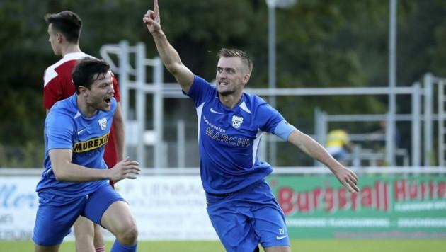 Wird wohl künftig für den FC Pinzgau jubeln: Lukas Schubert (re.). (Bild: Tröster Andreas)