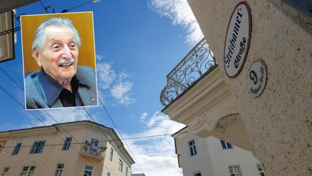 Marko Feingold stand stets gegen antisemitische Tendenzen auf. Nun soll die Stelzhamerstraße umbenannt werden (Bild: Markus Tschepp, Barbara Gindl)