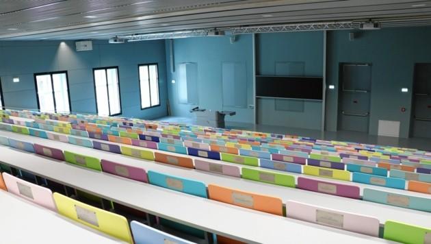 Die Hörsäle an der Uni Graz bleiben dieses Semester weitgehend leer.