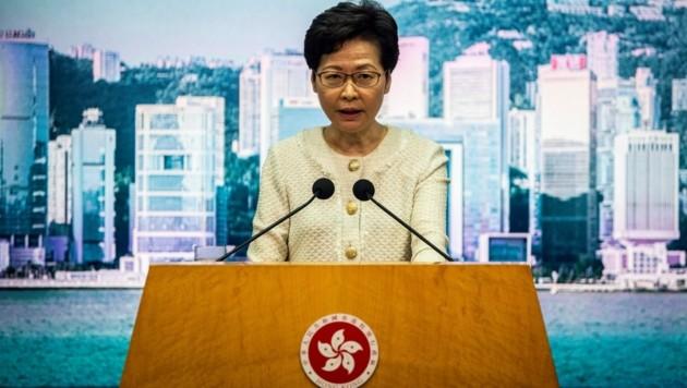 Hongkongs Regierungschefin Carrie Lam (Bild: AFP)