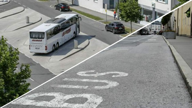 Tourismus in Zeiten von Corona: Der Busterminal in der Paris-Lodron-Straße wirkt derzeit fast gespenstisch.  Auch in Nonntal parken deutlich weniger Reisebusse, als eigentlich gewohnt. (Bild: Tröster, Tschepp)