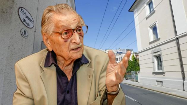 Marko Feingold setzte sich stets gegen antisemitische Tendenzen ein. Zu Ehren des früheren Präsidenten der Israelitischen Kultusgemeinde Salzburg soll eine Straße in der Stadt umbenannt werden. (Bild: Markus Tschepp)