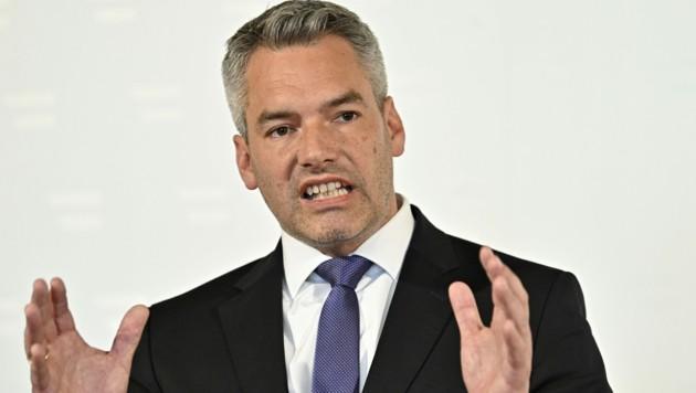 Innenminister Karl Nehammer (Bild: APA/HANS PUNZ)