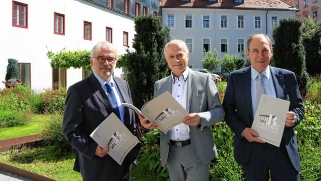 Rudolf Leitner (WKO), Landesrat Hans Seitinger, Raiffeisen-General Martin Schaller (v. li.) (Bild: Christian Jauschowetz)