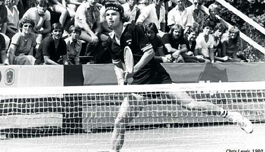 In Zell am See (im Bild der spätere Wimbledon-Finalist Chris Lewis) war noch Anfang der 1980er-Jahre die Weltelite zu Gast. (Bild: TCZ)
