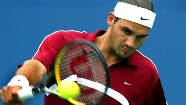 Roger Federer im Jahr 2003 (Bild: AFP)