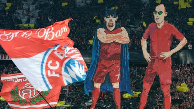 Es war einmal DFB-Pokal-Halbfinale 2015 mit Bayern München und Borussia Dortmund. Und die Bayern-Fans zeigten diese Choreografie.