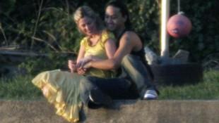 Das ungewöhnliche Paar bei einem Fotoshooting im Jahr 2006 (Bild: AFP)
