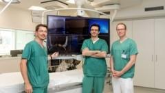 Die Kardiologen Martin Martinek, Georgios Kollias, Michael Derndorfer (v. l.) (Bild: Ordensklinikum Linz)