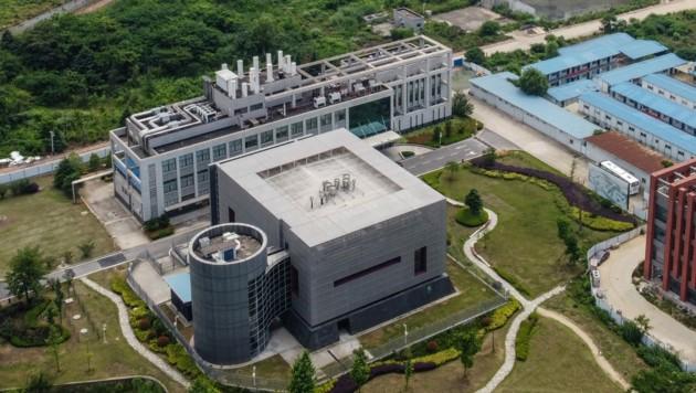 Eine Luftaufnahme des BSL-4-Labors in Wuhan