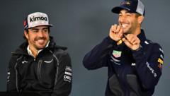 Fernando Alonso und Daniel Ricciardo haben sich schon 2018 gut verstanden ... (Bild: APA/AFP/GETTY IMAGES/CLIVE MASON)