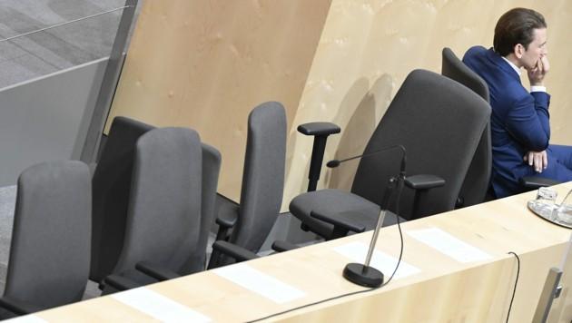 Bundeskanzler Sebastian Kurz während einer Sitzung des Nationalrates (Bild: APA/ROBERT JAEGER)