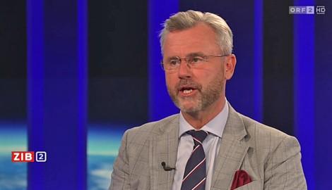 """FPÖ-Chef Norbert Hofer in der """"ZiB 2"""" (Bild: Screenshot/ORF)"""