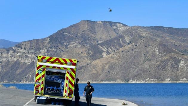 Mit einem Hubschrauber, Drohnen und Booten suchte die Polizei nach der Schauspielerin.