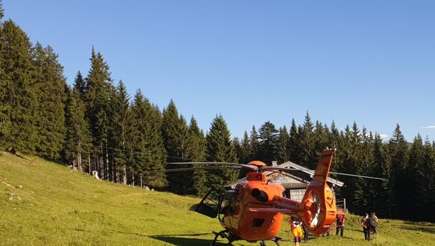 Einsatzkräfte der Bergwachten Bad Reichenhall und Freilassing haben am Donnerstagnachmittag eine 52-jährige Urlauberin gerettet (Bild: BRK BGL)