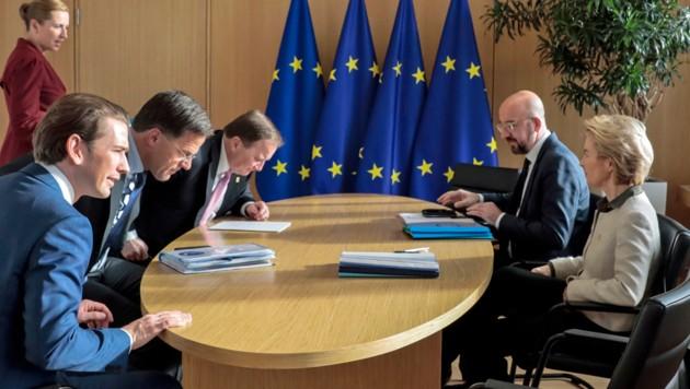 Die EU-Nettozahler Niederlande, Dänemark, Schweden und Österreich haben Bedenken zum Billionenschweren Hilfspaket angemeldet.