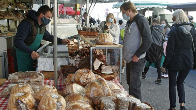 Der Benediktinermarkt in Klagenfurt (Bild: APA/GERD EGGENBERGER)