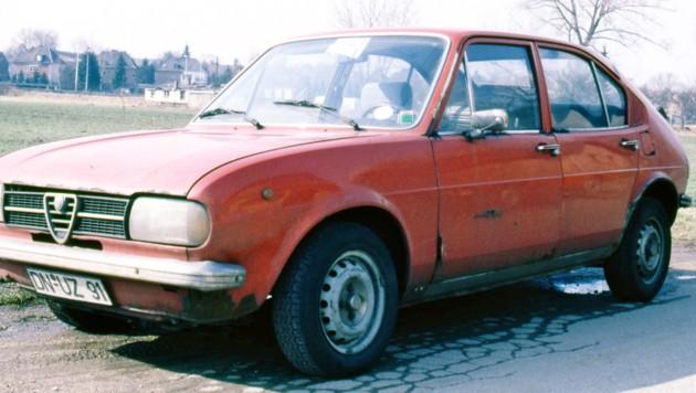 Der Alfasud war besonders als Rostlaube bekannt. Dieses Exemplar war zum Zeitpunkt des Fotos gerade einmal sechs Jahre alt.