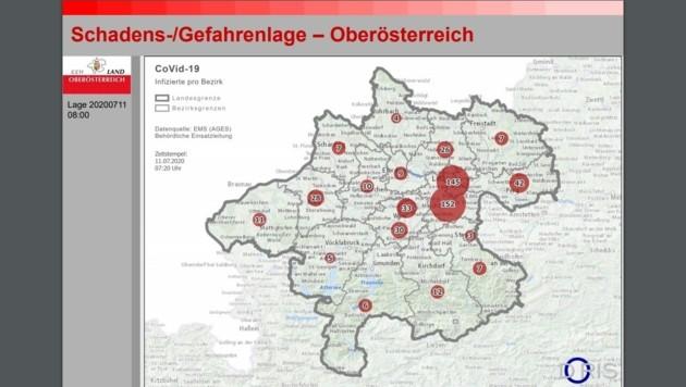 Auswertung der Daten auf der OÖ-Karte (Bild: zVg)