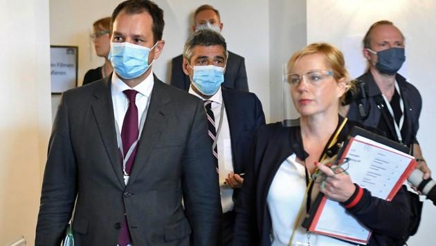 ÖBAG-Chef Schmid auf dem Weg zu seiner Befragung im Ausschuss