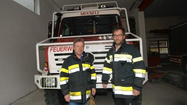 Bernhard Wiltschnigg und Andreas Kowatsch (FF Mixnitz)