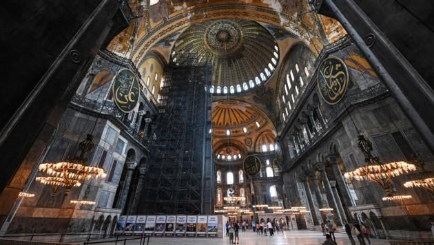 Die Hagia Sophia von innen (Bild: AFP)