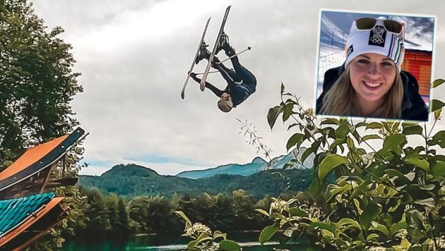 Melanie Meilinger fliegt gern durch die Lüfte. (Bild: Melanie Meilinger)