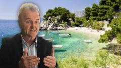 Veljko Ostojic, Direktor des kroatischen Tourismusverbandes, hofft auf Solidarität. (Bild: Hannes Pap, stock.adobe.com, krone.at-Grafik)