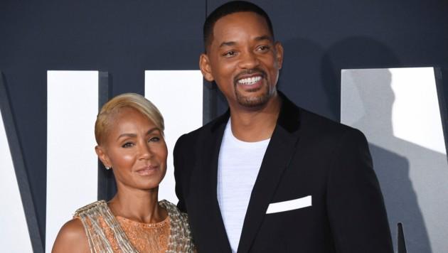 Jada Pinkett-Smith und ihr Ehemann Will Smith (Bild: Phil Mccarten/Invision/AP)