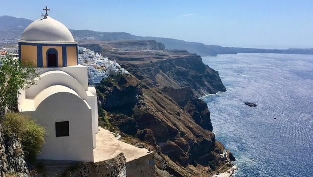 Die griechische Urlaubsinsel Santorin, Symbolbild