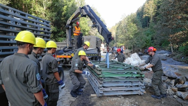 """Das Bundesheer als """"Technisches Hilfswerk"""" bei Katastrophen? (Bild: Sepp Pail)"""