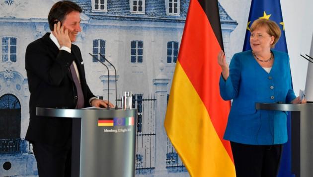 Angela Merkel und Giuseppe Conte (Bild: AFP)