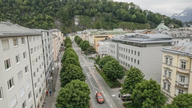 Zentrale Lagen, wie auch die Salzburger Franz-Josef-Straße sind begehrt. (Bild: Tschepp Markus)