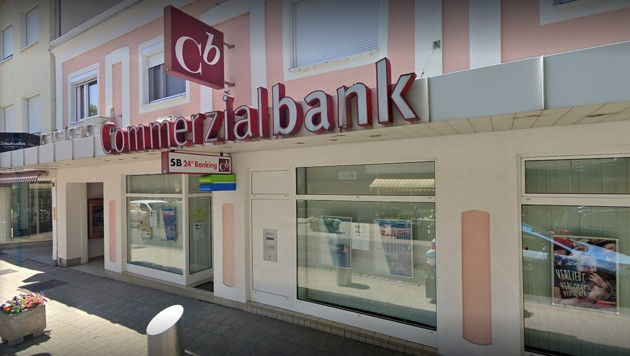 Eine Filiale der Commerzialbank Mattersburg (Bild: Screenshot: Google Streetview)