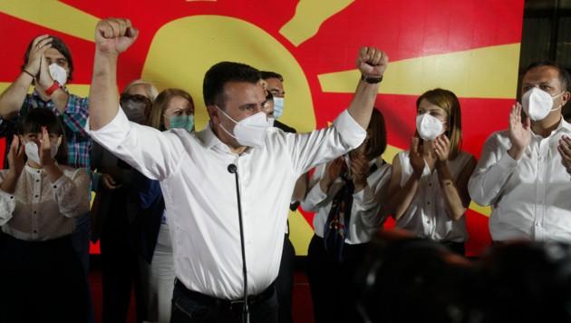 Nordmazedoniens Regierungschef Zoran Zaev (Bild: AP)