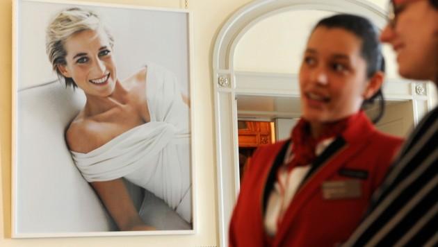Porträt von Prinzessin Diana im Kensington-Palast in London