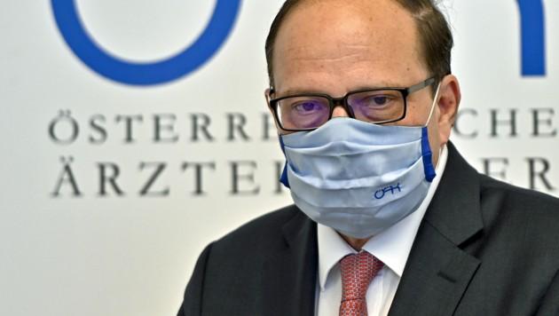Ärztekammerpräsident Thomas Szekeres (Bild: APA/Herbert Neubauer)